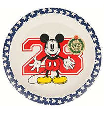 Disney 01321. Bamboo dish. Mickey Mouse Design.