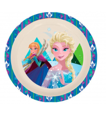 Disney 01330. Bamboo dish. Frozen design.