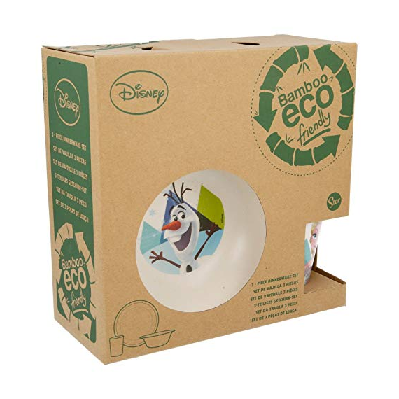 Disney 01335. Bamboo breakfast set. Frozen design.