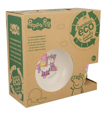 Peppa Pig 01385. Bamboo breakfast set.