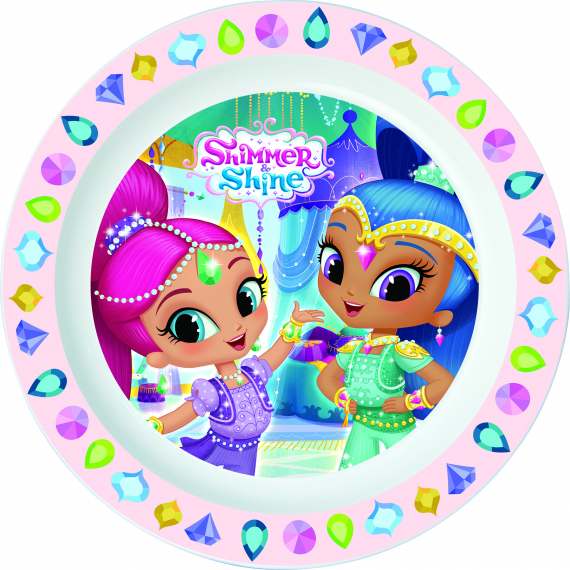 Shimmer & Shine 22247. Plat pour micro-ondes