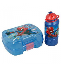 Marvel 37967. Fiambrera y botella. Diseño Spiderman.