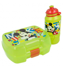 Disney 44267. Lunch box and bottle. Mickey Mouse Design.