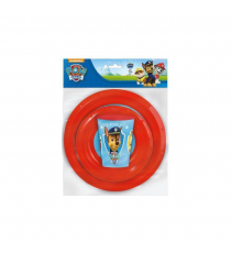 Paw Patrol 80710 - set of crockery 3pc- plate, bowl and glass 260ml.