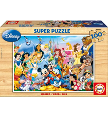 Educa Borrás 12002. The Wonderful Disney World. Puzzle 100 pieces.