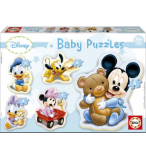 Educa Borras 13813. Baby Mickey. Puzzle 4 pieces.
