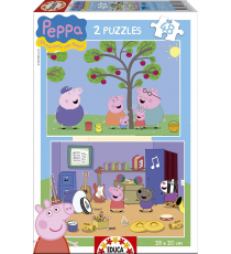 Educa Borrás 15920. Puzzle 2x48 pieces. Peppa Pig