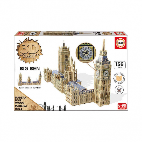 Educa Borras 16971. Parliament and Big Ben. 3D puzzle.
