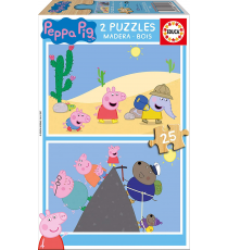 Peppa Pig 17158. Wooden puzzle. 2x25 pieces.