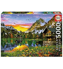 Educa Borrás 17678. Alpine Lake Design. Puzzle 5000 pieces.