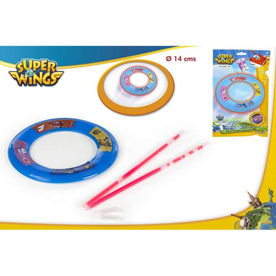 Super wings 77022. Disco Volador fluorescente.