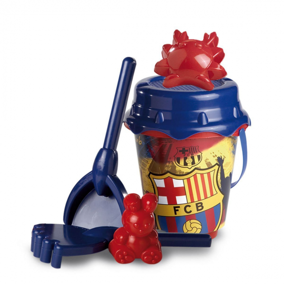 F.C. Barcelona 311026. Beach set with bucket and accessories, 22 cm
