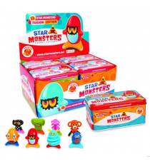 Star Monsters P00773. Can with 8 figures