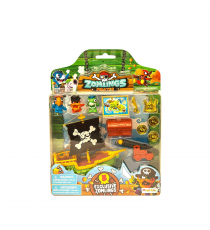 Zomlings 346C. Pirates blister. Green boat