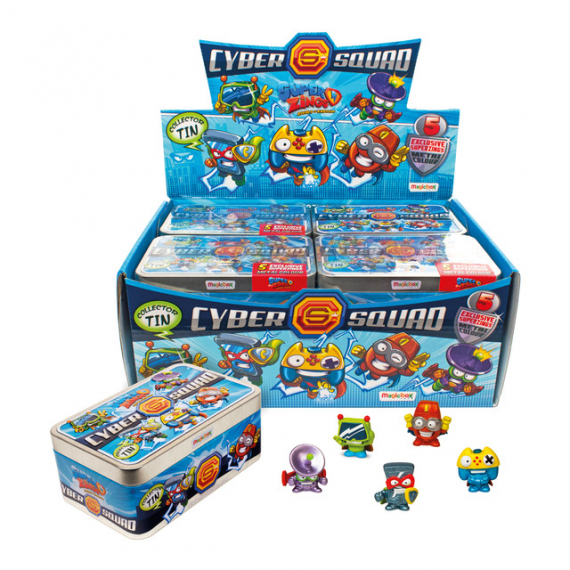 Superzings SZS3201. Can with 5 figures. Cyber Squad. Unit.