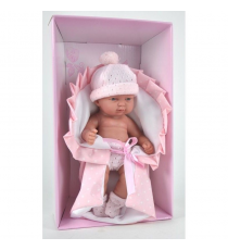 Baby doll 2570 with pink blanket.