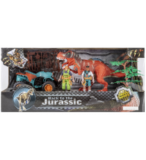 Back to the Jurassic 5406332465. Figura con quad y dinosaurio.