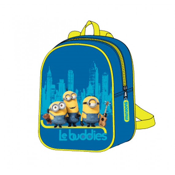 Minions MN16403 Backpack Measures 31.6 x 26 x 2 cm.