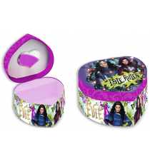 Disney WD16751 The Descendants - Joyero en forma de corazón con LED