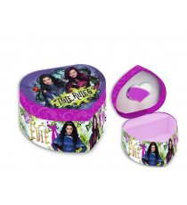 Disney WD16754 Joyero forma de corazon con espejo Descendants