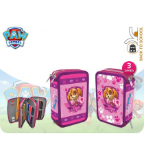 Paw Patrol PR16109 - Pencil case with accesories Model Skye - three closures