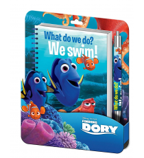 Disney WD17209 Looking for Dory - Blister Spiral notepad + 3D clamshell pen