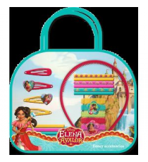 Disney WDEA075. Bag hair accessories 20 pieces. Design Elena de Avalor