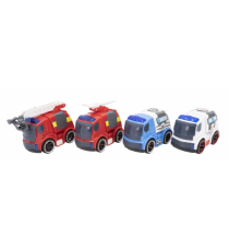 City Rescue 5406367596. Coches de emergencia. Pack de 4 coches.