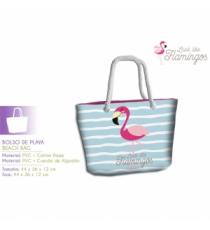 On dirait des flamants KL10029. Sac de plage. Design flamenco.