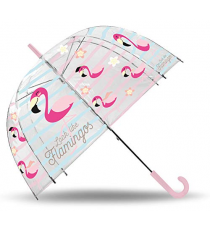 Look Like Flamingos KL10090. Transparent umbrella.