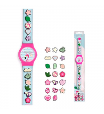 Look like Flamingos KL10100. Analog clock with beads.