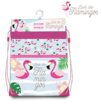 Look like flamingos KL10142. Bolsa saco.