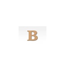 Letters of wood 8cm. Letter B