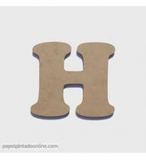 Letters of wood 8cm. Letter H