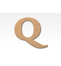 Letters of wood 8cm. Letter Q