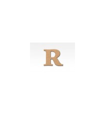 Letters of wood 8cm. Letter R