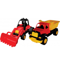 Tombul 14. Set of two trucks: Excavator and construction.