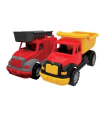 Tombul 07. Set of two trucks: Fireman and construction.