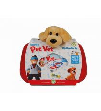 Pet vet 137. Vet case with stuffed animal. Random model.