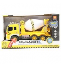 Cement mixer truck 341-0302. Truck with sounds and lights.