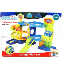 Playset garage 405-2810. Pack of 3 cars and parking.