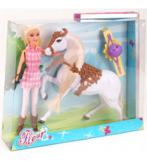 Fleur 571-6622. Doll with horse.