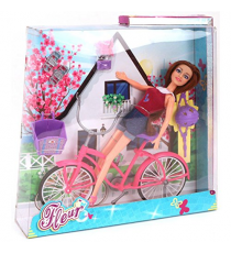 Fleur 571-6623. Doll with bicycle.