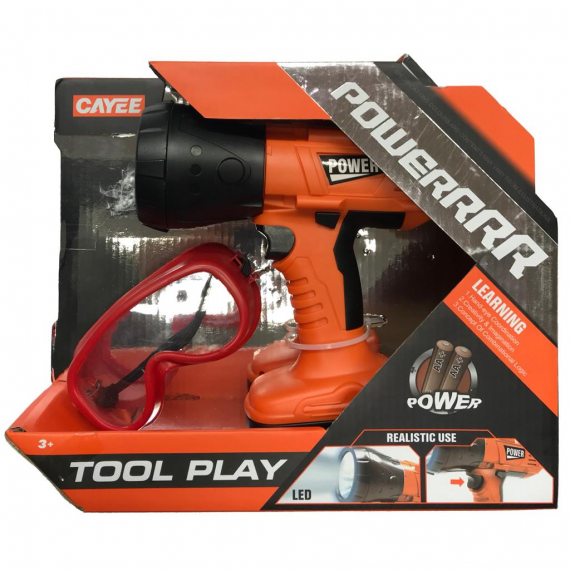 Tool set 416-1068. Tools and protective goggles.