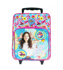 Soy Luna - Backpack Trolley with wheels measures 35x28x12