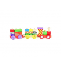 2-Play Wood 610063. Blocs de construction de train.