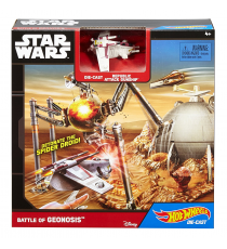 Hot Wheels Star Wars CGN36. Playset Nave de batalla Geonosis
