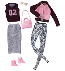 Barbie DWG41. Look Fashion. Pack 2 ropa deportiva y accesorios.