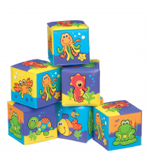 Playgro 0181170. 6 Fun cubes of bath