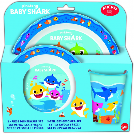Baby Shark 13549. Set de vajilla.